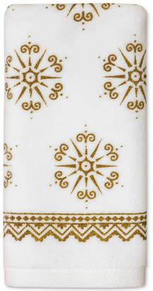 Dena CLOSEOUT! Majestic Winter Cotton 2-Pc. Snowflake-Print Fingertip Towel Gift Set