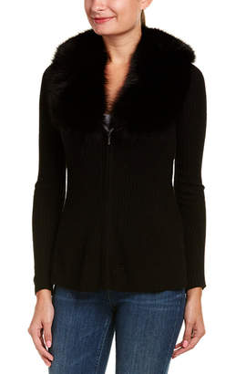 Sofia Cashmere sofiacashmere Sofiacashmere Zip-Front Cashmere Sweater