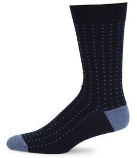 Saks Fifth Avenue COLLECTION Birdseye Ribbed Knit Socks