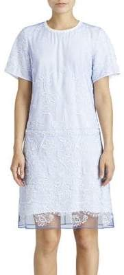 Burberry (バーバリー) - Burberry Burberry Women's Embroidered Tulle T-Shirt Dress - Blue - Size 2