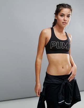 Puma Powershape Forever Bra With Wording In Black