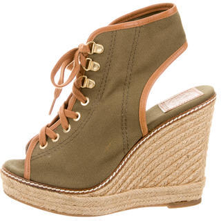 Tory BurchTory Burch Lace-Up Wedge Sandals