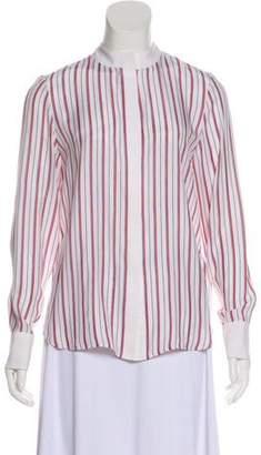 Frame Silk Striped Top