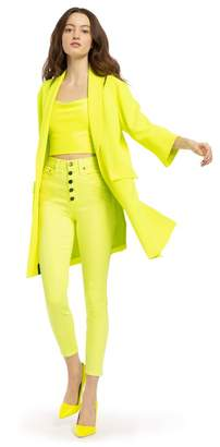 Alice + Olivia Angela Neon Cuff Sleeve Coat