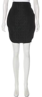Co Patterned Knee-Length Skirt Black Patterned Knee-Length Skirt