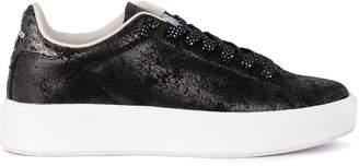 Lotto Leggenda Lotto Impressions Black Laminated Nabuck Crack Sneaker