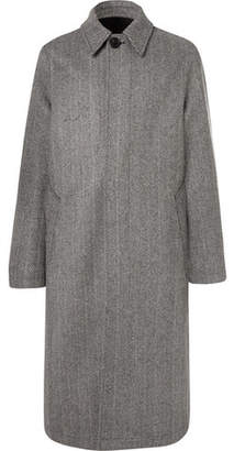 Ami Oversized Herringbone Wool-Blend Coat