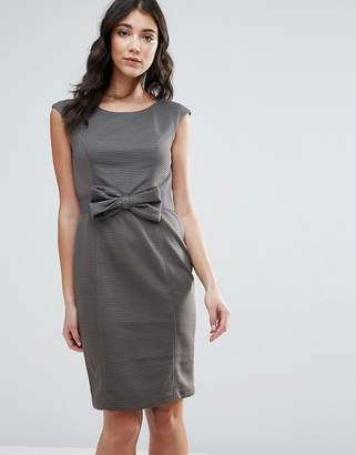 Traffic People Pencil Dress With Bow Detail