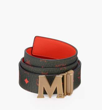 """MCM Claus Antique M Reversible Belt 1.75"""" In Visetos"""