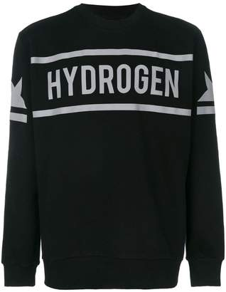 Hydrogen icon star crewneck sweatshirt