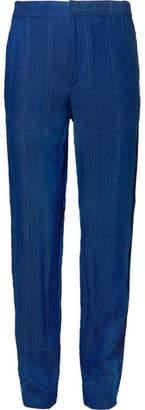 Stella McCartney Cobalt Pinstriped Linen-Blend Suit Trousers