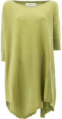 Lamberto Losani cashmere draped knitted top