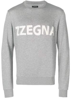 Ermenegildo Zegna embroidered logo sweatshirt