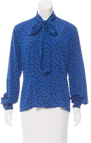 Christian Dior Spot Print Button-Up Top