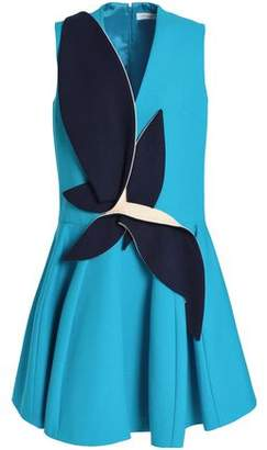 DELPOZO Appliquéd Cotton-Neoprene Mini Dress