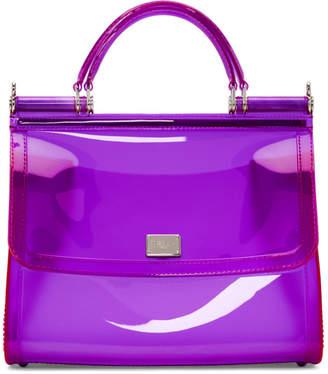 Dolce & Gabbana Purple Small Rubber Miss Sicily Bag