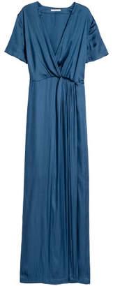 H&M Long Satin Dress - Blue