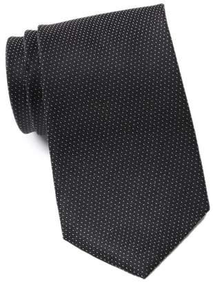 Calvin Klein Filigree Micro Dot Extra Long Silk Tie