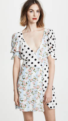 For Love & Lemons Savannah Wrap Mini Dress