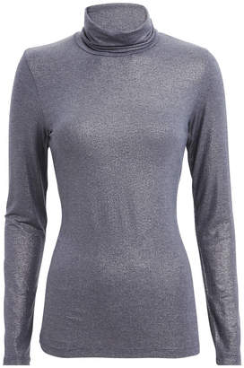 Majestic Filatures Metallic Navy Turtleneck