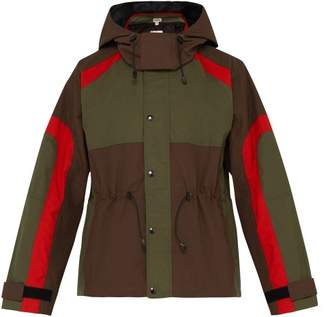 Phipps - Rain Hooded Colour Blocked Parka - Mens - Brown