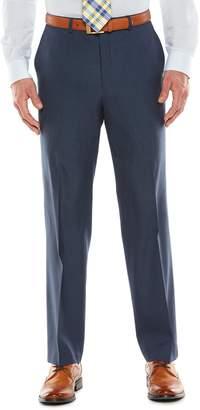 Chaps Men's Black Label Classic-Fit Navy Wool-Blend Stretch Flat-Front Suit Pants