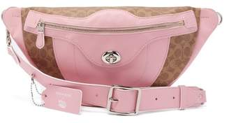 Coach Matty Bovan X Matty Bovan L Signature Canvas Belt Bag - Womens - Light Pink