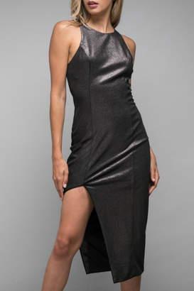 Do & Be Asymmetric Foiled Dress