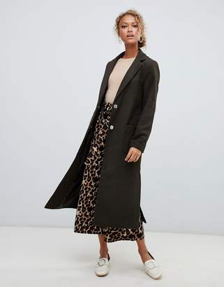 New Look Bar Back Maxi Coat