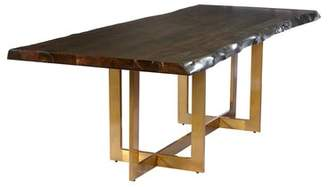 Everly Quinn Minni Acacia Wood Slab Dining Table