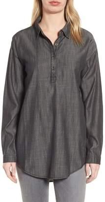 Eileen Fisher Tencel(R) Lyocell & Organic Cotton Tunic Shirt