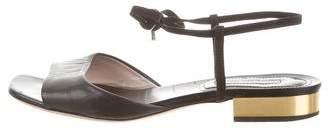 Dries Van Noten Leather Lace-Up Sandals