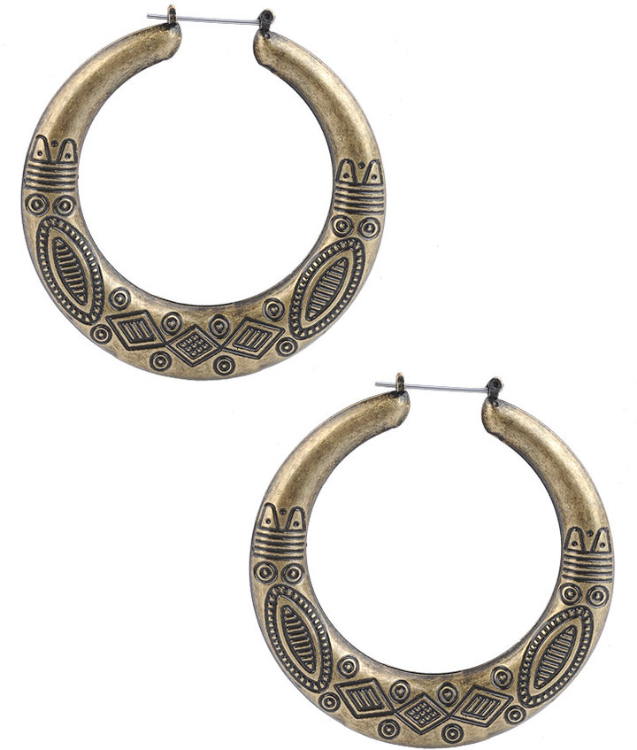 Tribal Etched Hoops