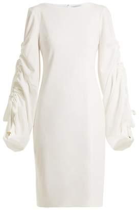 Osman Talitha Gathered Sleeves Dress - Womens - Ivory