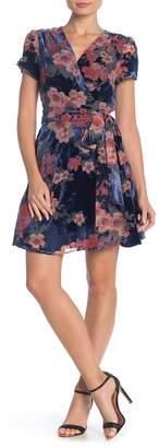 Yumi Kim Kennedy Floral Velvet Burnout Wrap Dress