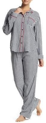 PJ Salvage Checkered Print Pajama Pants