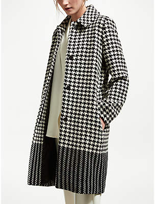 Marella Houndstooth Coat, Black