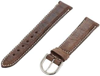 Momentum ZC-18COC DK BROWN 18mm Cocco Leather Calfskin Brown Watch Strap