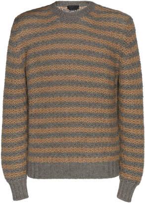 Prada Striped Alpaca Sweater