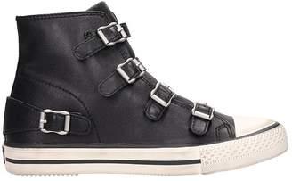 Ash Virgin Black Leather Sneakers