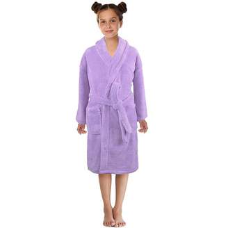 Banstore Baby Banstore Boys Girls Solid Flannel Bathrobes Towel Night Gown Pajamas Sleepwear