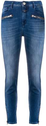 Closed ankle zips skinny jeans