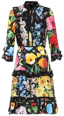 Gucci Floral-printed silk satin dress