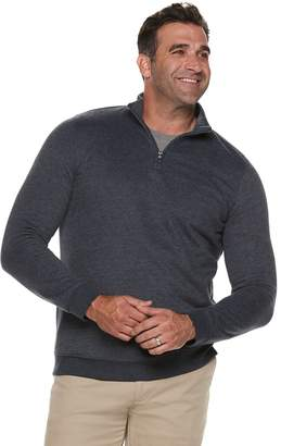 Croft & Barrow Big & Tall Classic-Fit Easy-Care Quarter-Zip Pullover
