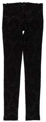 Plein Sud Jeanius Embroidered Low-Rise Skinny Pants w/ Tags