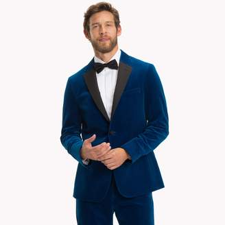 Tommy Hilfiger Blue Velvet Slim Fit Dinner Jacket