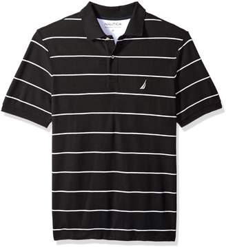 Nautica Men's Tall Classic Short Sleeve Striped Polo Shirt