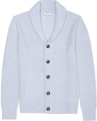 Reiss Mansel - Shawl Collar Cardigan in Pale Frost