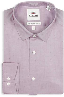 Ben Sherman Slim Fit Pinpoint Dobby Wrinkle-Free Dress Shirt