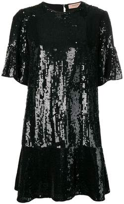 Twin-Set sequinned drop-waist dress